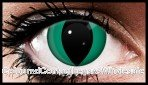 Green Zombie Cat Eyes Crazy Contact Lenses