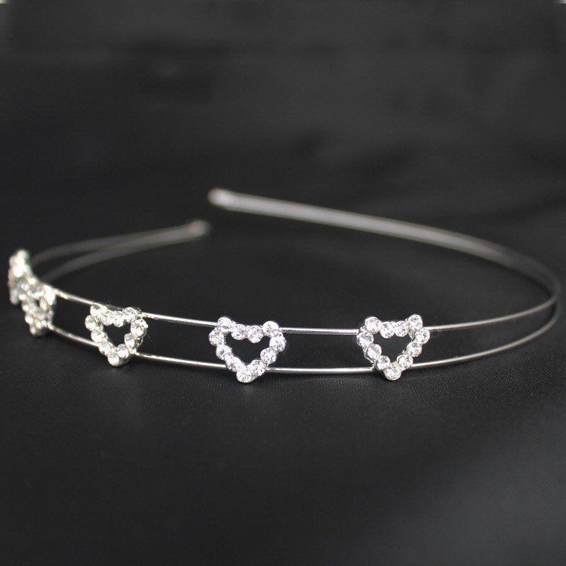 Bridal 216/ Bridal Tiara - Diamante Hearts (HR00184)