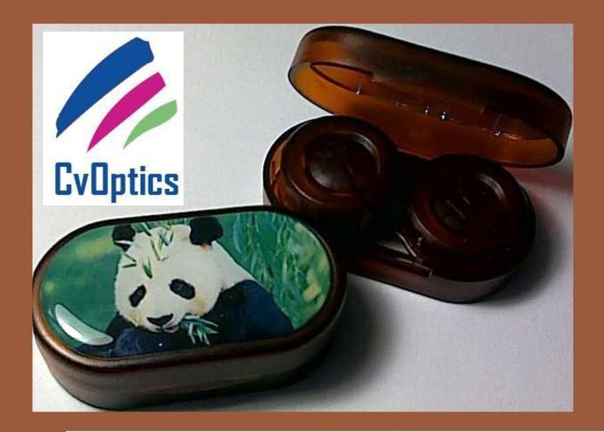Panda Endangered Species Contact Lens Soaking Case