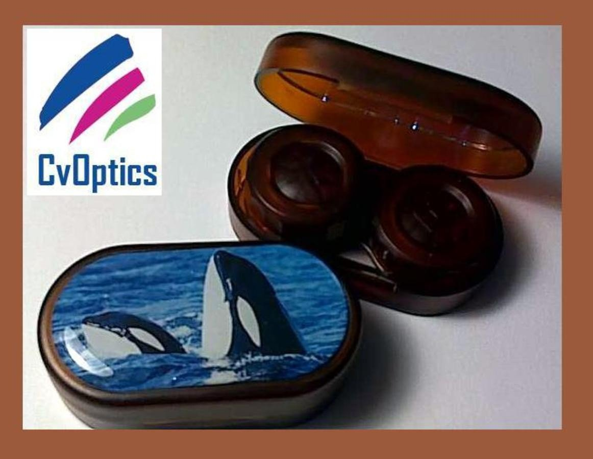 Orca Whale Endangered Species Contact Lens Soaking Case