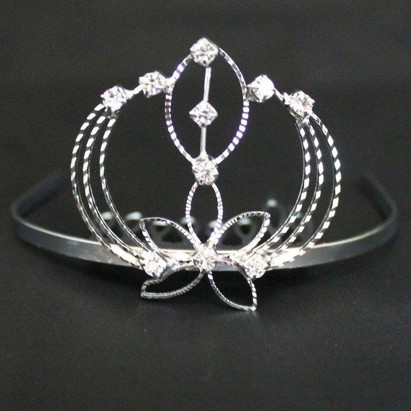 Bridal Tiara Heart & Diamond- Silver (GS21604)