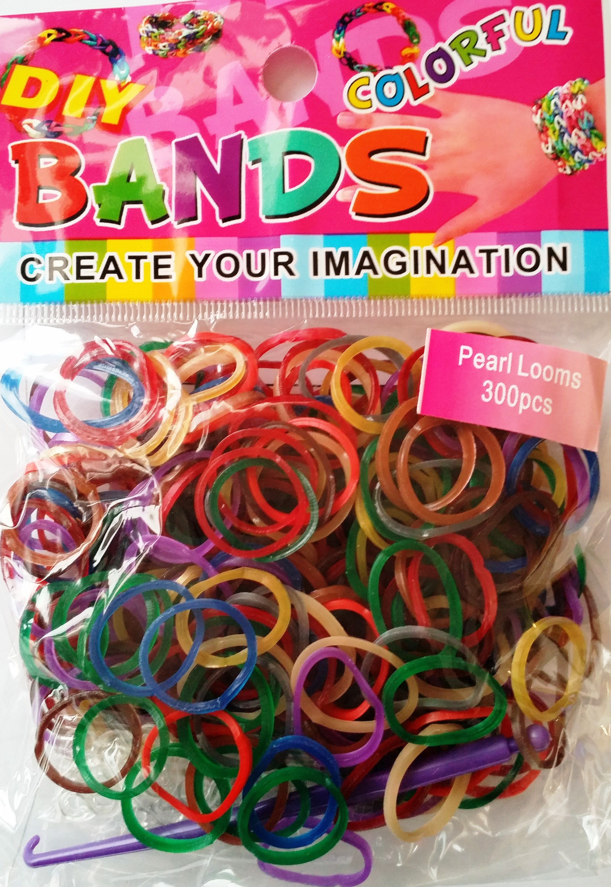 Colourful Loom Bands (Pearlised) 12 Packs