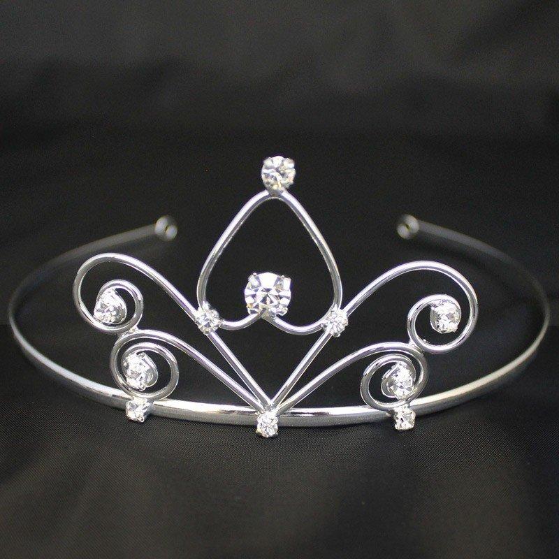 Bridal Tiara Crystal Stone - Silver (GS40420)