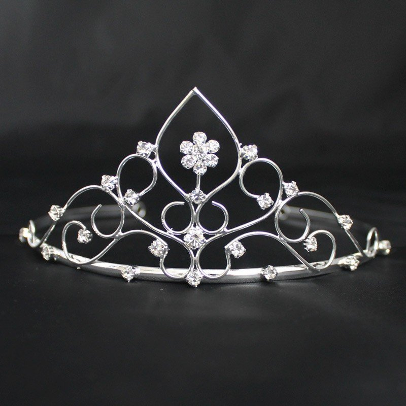 Bridal Tiara -Plaited Diamonds - Silver (GS40425)