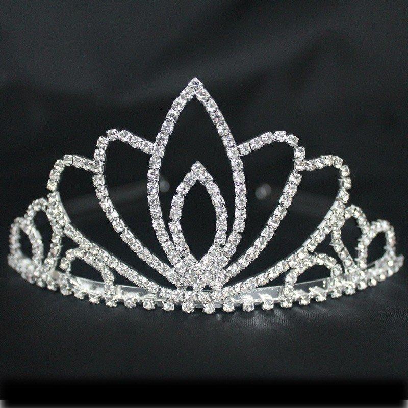 Bridal 191/ Bridal Tiara - Lotus (Silver) (B23188)