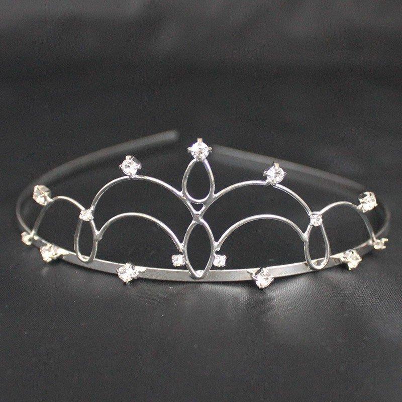 Bridal Tiara Plaited - Silver (T2170)