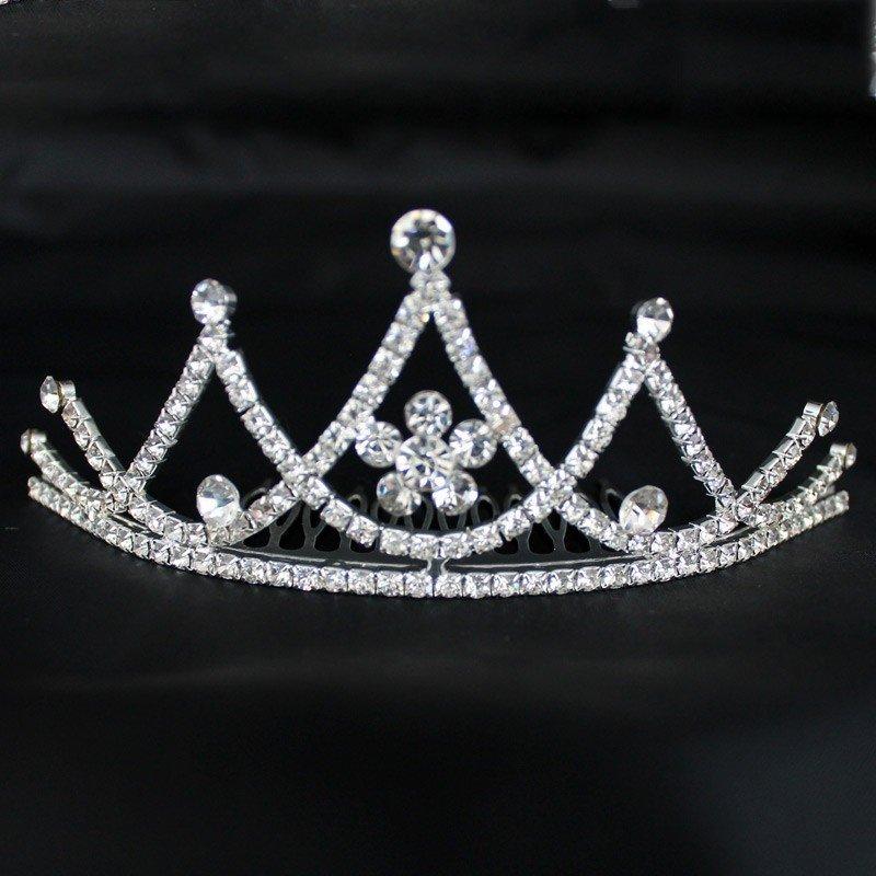 Bridal Comb Tiara with Diamante - Silver (G22163)