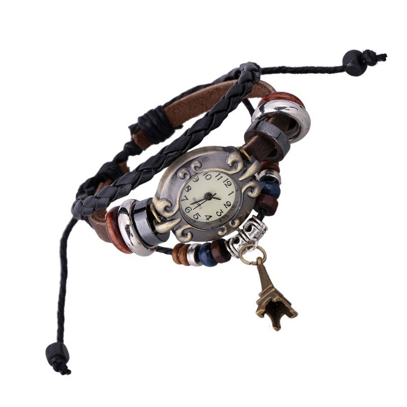 Beautiful Leather Wrap Bracelet Watch