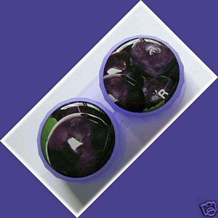 Plum Summer Fruits Contact Lens Holder For Lenses