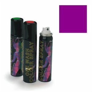 Stargazer Purple (UV Reactive) One Wash Colour Hair Spray 75m