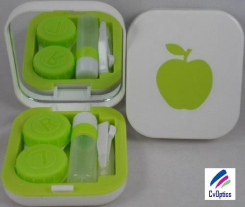 Orange Apple Contact Lens Travel Kit With Mirror
