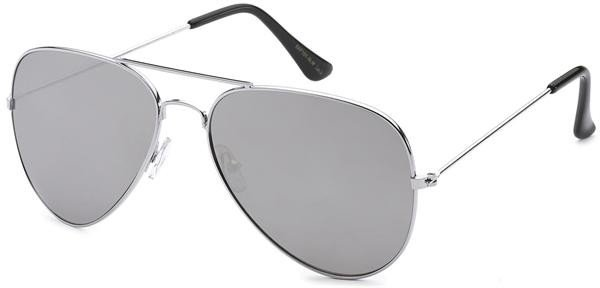 12 X Aviator Sunglasses Silver Frame With Mirrored Lens