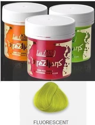 Fluorescent Lime Green Directions Semi Perm Hair Dye By La Riche