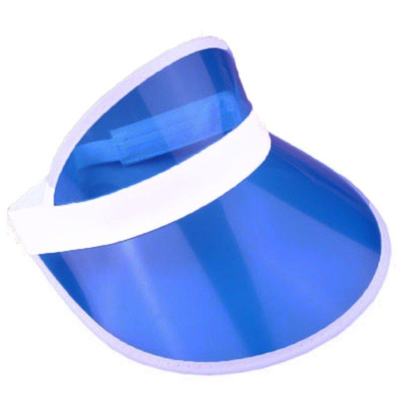 6 x Blue Sun Visors Croupier Hat Golf/Poker/80s