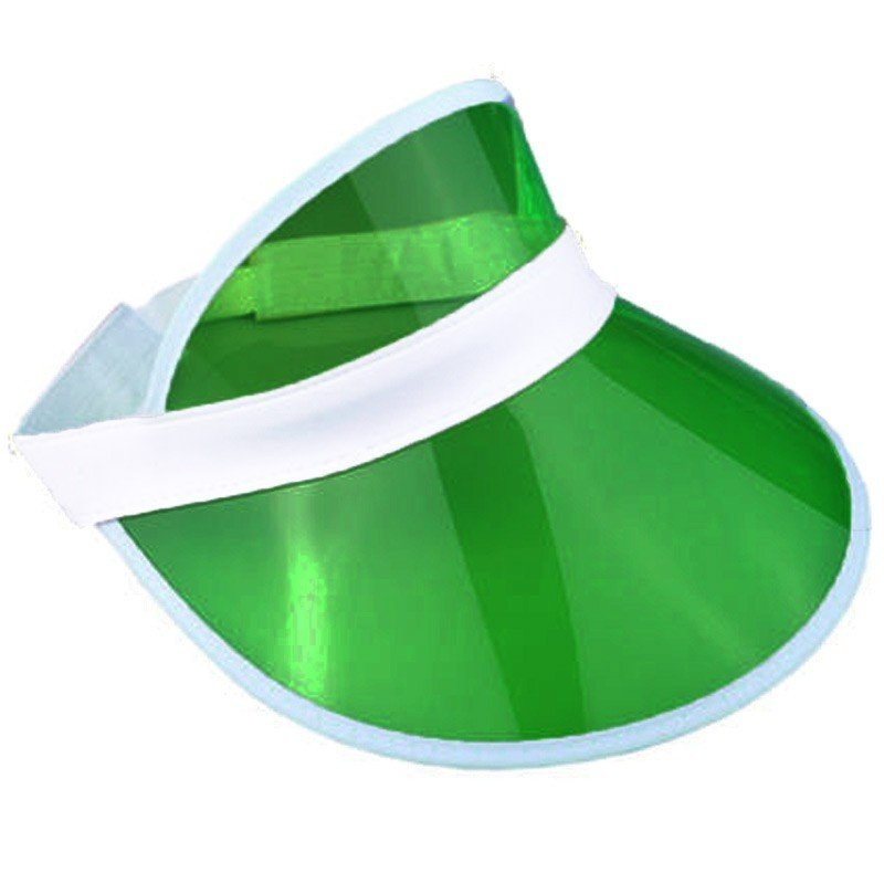 6 x Green Sun Visors Croupier Hat Golf/Poker/80s