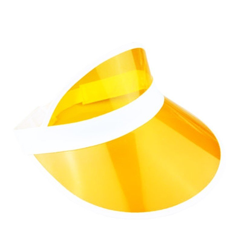 784d325a5bc 6 x Yellow Sun Visors Croupier Hat Golf Poker 80s