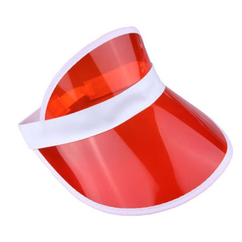 0950b830a0f 6 x Red Sun Visors Croupier Hat Golf Poker 80s