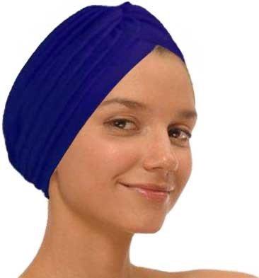 Navy Fashion Turban Funky Headwrap
