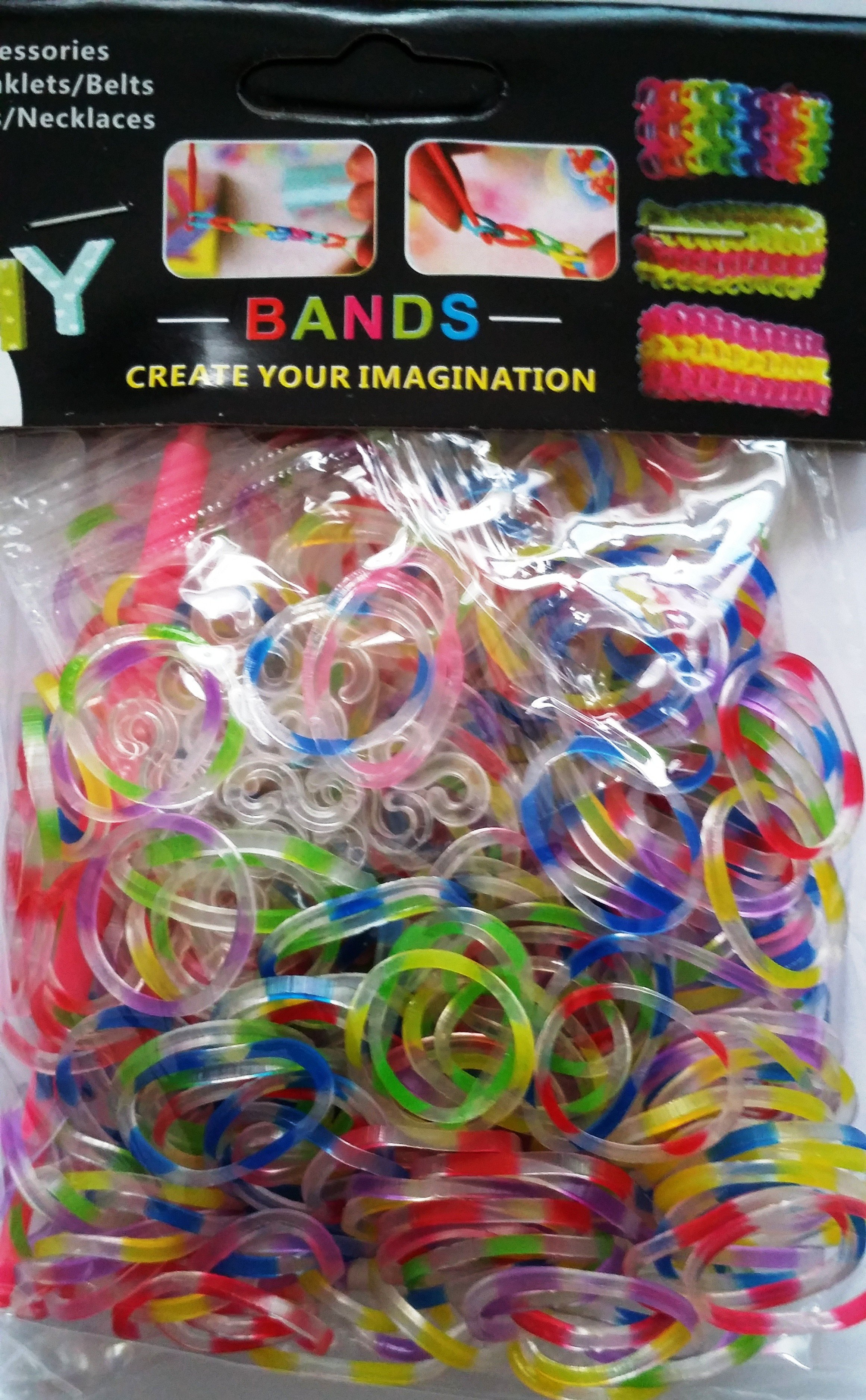 NEW Translucent 2 Tone Loom Bands- (In Mix Assorted Trans Colours) 300s x 12 Packs