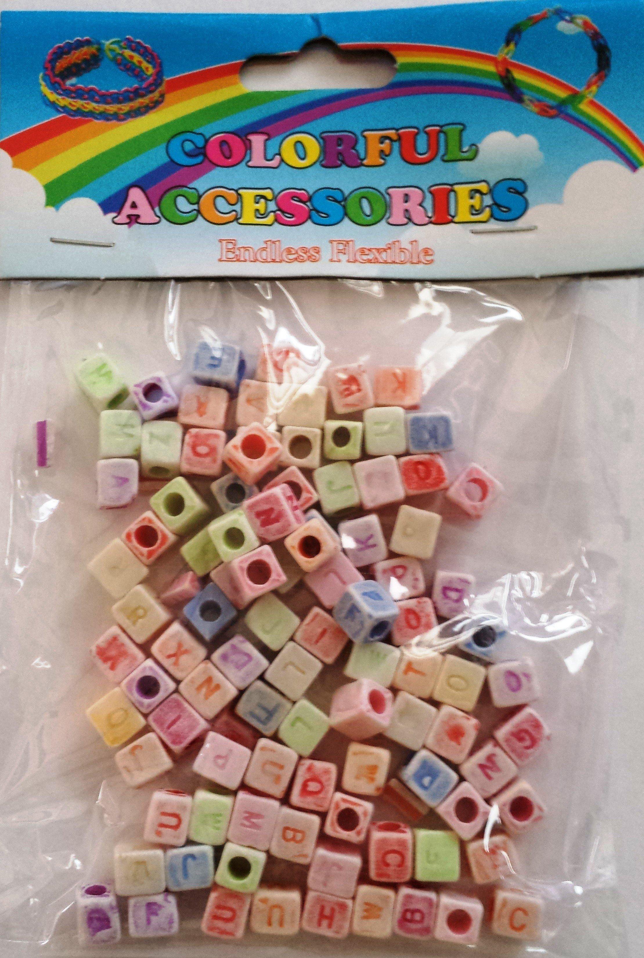 20 X Packs Of Alphabet Loom Band Beads (Pastel)
