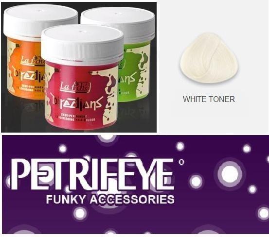 White Toner Directions Semi Perm Hair Dye By La Riche