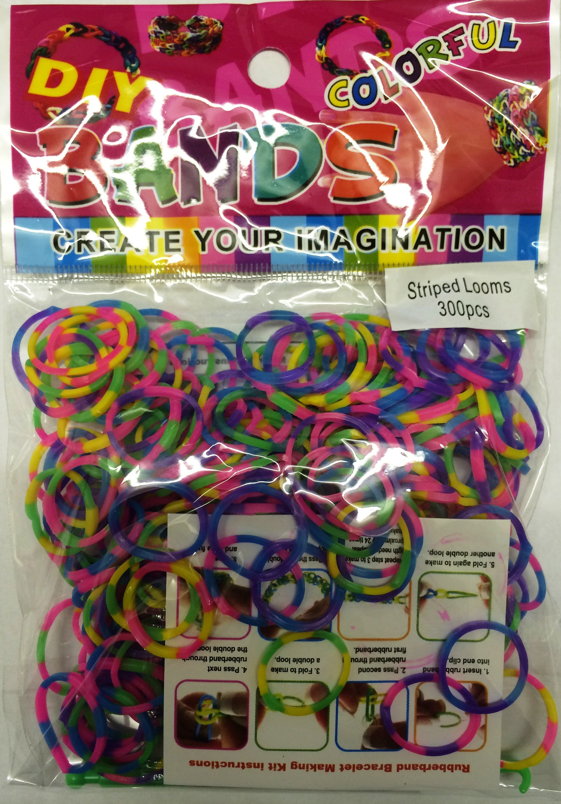 Colourful Loom Bands (2 Tone 300s) 12 Packs
