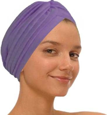 Purple Fashion Turban Funky Headwrap