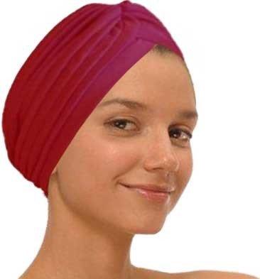 Red Fashion Turban Funky Headwrap