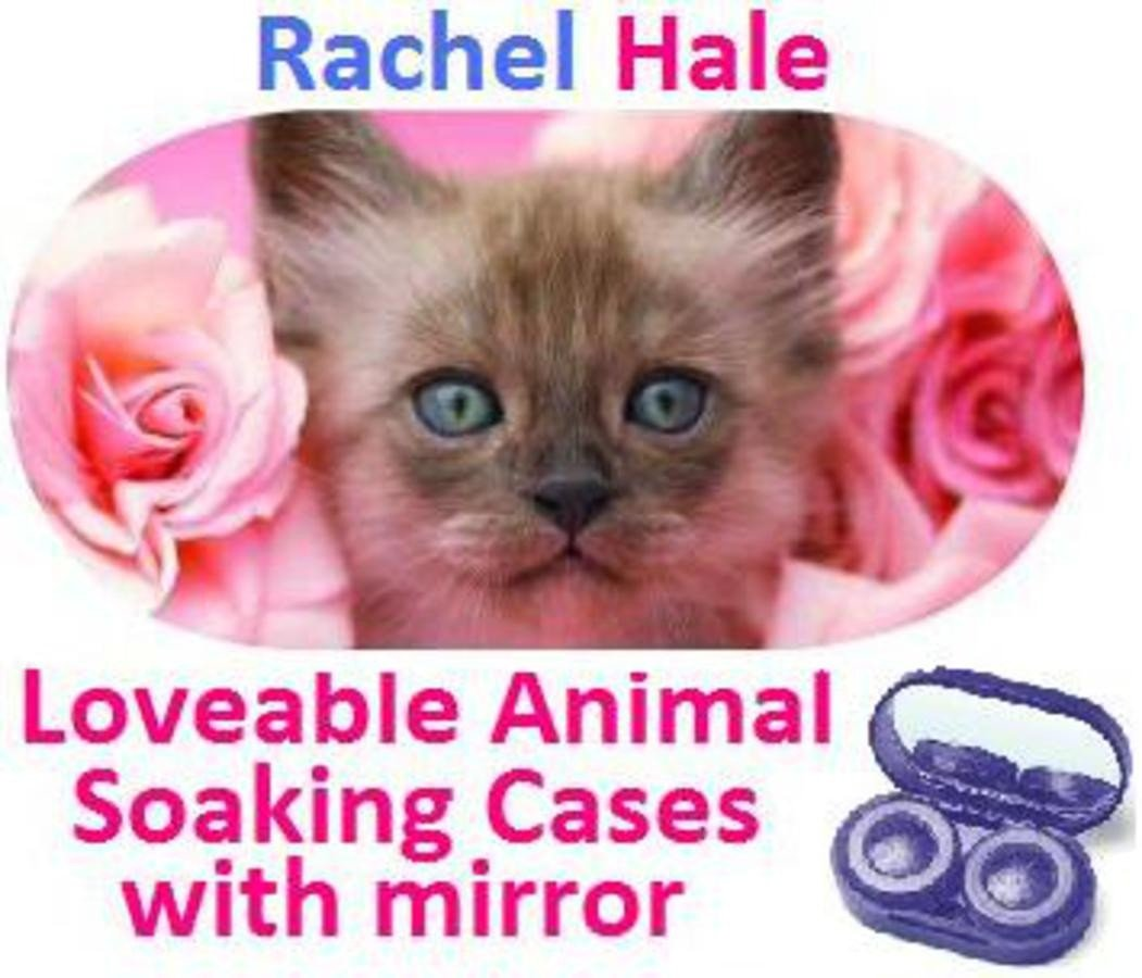 Kitten In Roses Rachel Hale Contact Lens Soaking Case