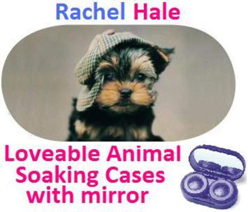 Puppy In a Hat Rachel Hale Contact Lens Soaking Case