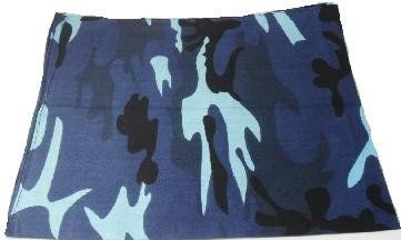 Blue Camouflage Bandana Head Scarf