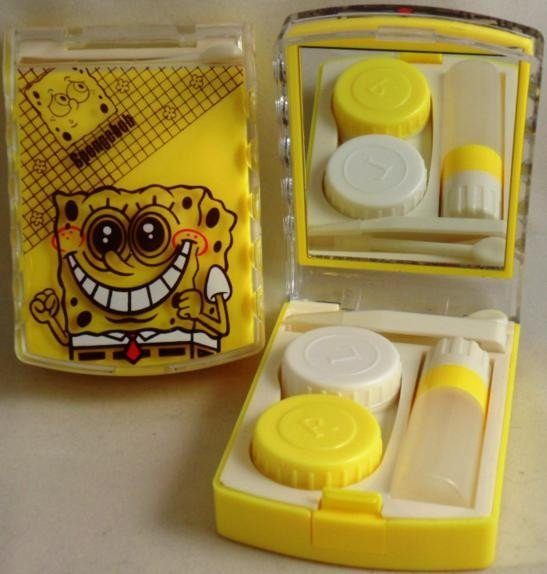 SpongeBob Square Pants Contact Lens Storage Soaking Travel Kit