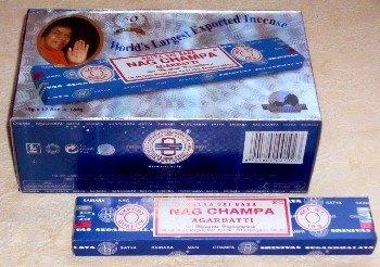 6 x Boxes Sai Baba Satya Nag Champa Incense Sticks (15g)