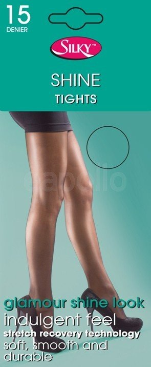 (6 Packs) Silky's Super Shine Tights 15 Denier (Extra Large Nude)
