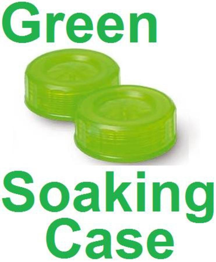 Lime Green Contact Lens Soaking Case -Translucent Style