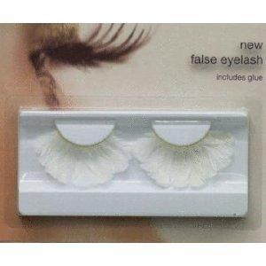 Stargazer Reusable False Eyelashes White Feathers 48