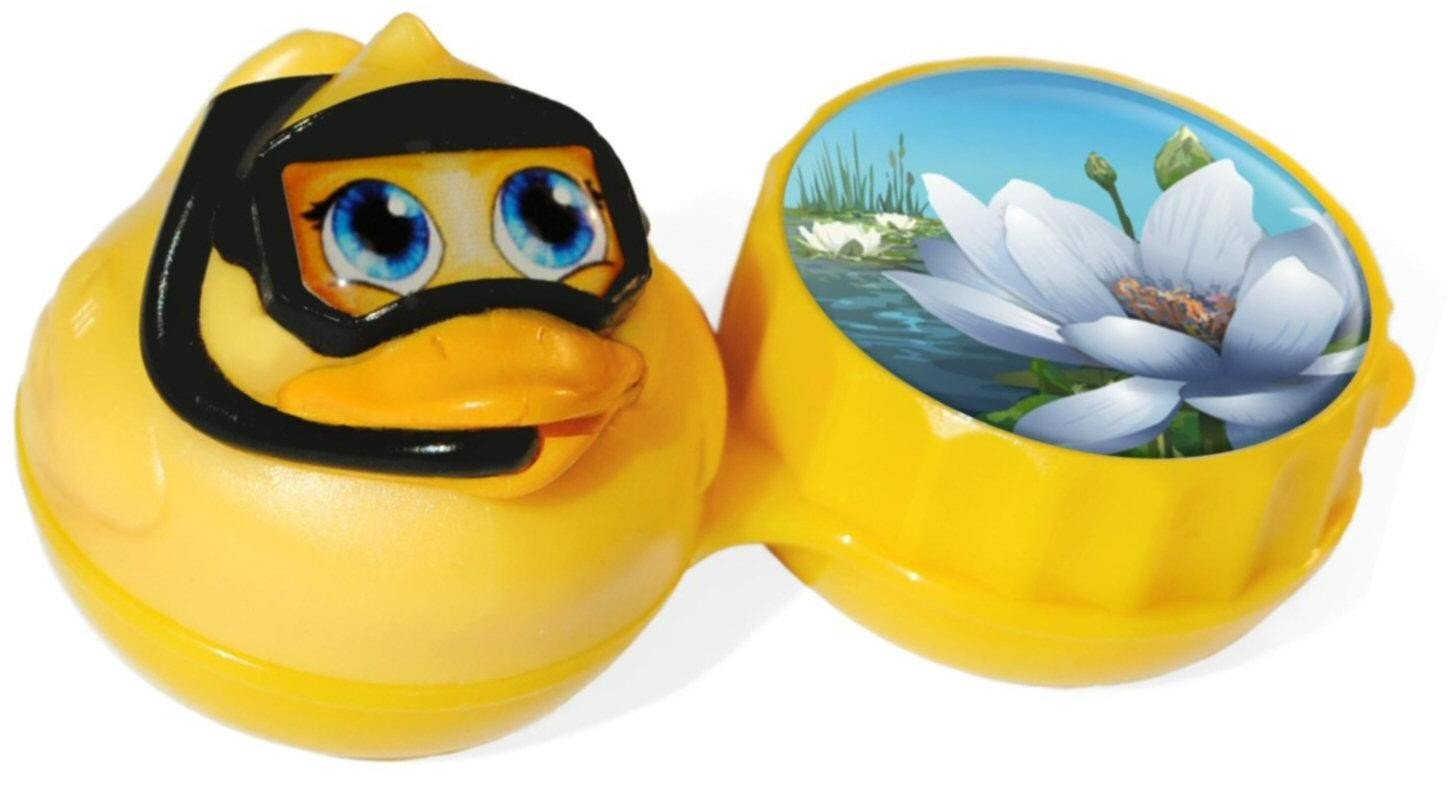 Funky Duck 3D Contact Lenses Storage Soaking Case