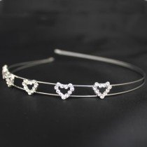 Bridal 216/ Bridal Tiara - Diamante Hearts (HR00184)
