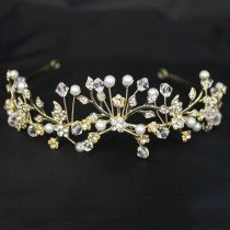 Bridal 180/ Bridal Tiara - Gold (40406)