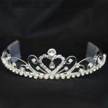 Bridal 195/ Bridal Tiara With Comb - Silver (40439)