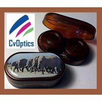 Elephant Endangered Species Contact Lens Soaking Case