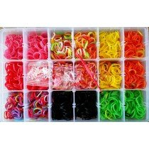 1 X 1800pcs Bands Loom Band Kit With S Sclips And Tool