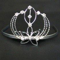 Bridal 82/3-L/ Bridal Comb Tiara with Flower - Silver (6332) (PO17187) (Pack of 2)
