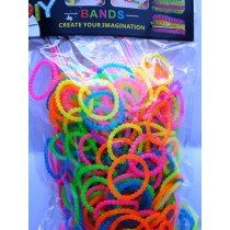 New Block Bumpy Ribbed Style Loom Bands 12 Packs x 300s