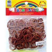 Colourful Loom Bands Brown Coconut Colour (Coconut Scented 300s) 12 Packs