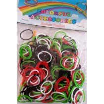 Palestinian Flag Colour Palestine Loom Bands 300s x 12 Packs