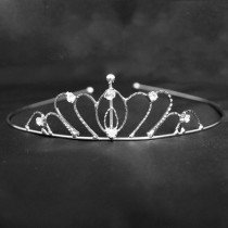 Bridal Tiara Oval Shaped- Silver (6335)