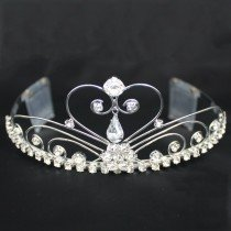 Bridal Tiara With Comb - Silver (GS40437)