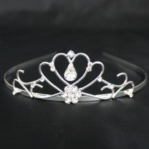 Bridal Tiara Diamond Tear- Silver (T5473)