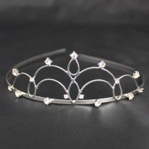 Bridal Tiara Plaited - Silver (T2170)
